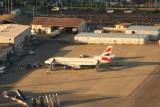 BA 737 at Gibraltar airport