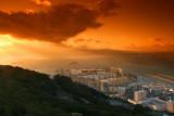 Sundown from Rock of Gibraltar