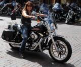 Smiling Lady Biker