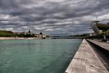 Berges du Rhône et l'Hôtel Dieu