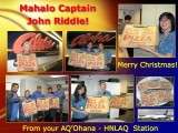 Mahalo Captain Riddle