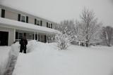 The shoveling begins