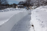 Our front sidewalk
