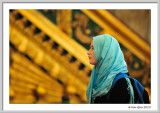 Girl in front of the Minbar