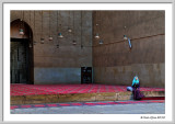 A girl at the Mosque of Sultan Hassan