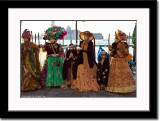 Group of Masks at Waterfront