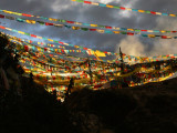 Prayer flags in the morning