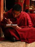 Tibetan writing lesson