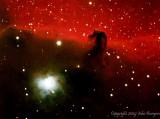 IC434 the Horsehead Nebula and NGC 2023