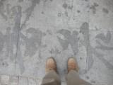 Sidewalk water calligraphy, Beijing (2009)