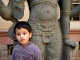 With Vishnu.