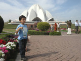 First time to the Baha'i Lotus Temple.