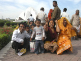 This family wanted to have Rahil pose with them, but he refused.