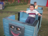 First toy-train ride