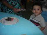 Gobbling up cake