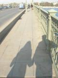 Ravina and I crossing Troitsky Most