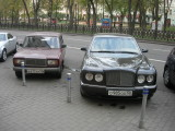 Soviet-era car vs. Rolls Royce