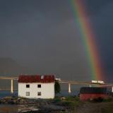 Regnbue over Sortland