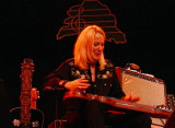 Cindy Cashdollar on steel guitar
