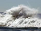 Coast Guard boat vs. wave
