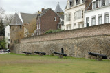 Fortifications - the remains of the 13th century ramparts and fortifications are across the Mass in the new Ceramique district
