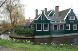 green wooden houses and mills which were once scattered across the  Zaanstreek region