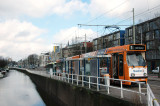 the tram that goes from Den Haag to Delft