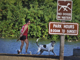 no dogs allowed in water at Oka Ponds