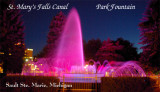 Soo Locks Fountain   (purple)