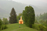 Ghimeş Valley - wooden church in Aldămas