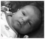 Zachary After a Big Tummy Full BnW.jpg