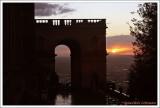Le soleil se couche à la Villa d'Este