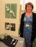 Katie Bonham with her work