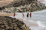 Hindu Women in the Surf