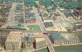 Aerial View of Sterling Illinois