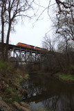 BNSF Coal Train on Bureau Creek Bridge .JPG