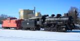 Steam Locomotive on Display at Independence, Iowa