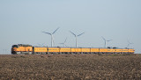 EMD DDA40X, Union Pacific 6936 thru the wind farms near Broadmoor, Illinois