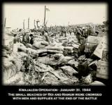 Roi Namur Beaches with Men & Supplies Jan 31, 1944