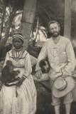 A White trader & Wife Topsy Majuro Island 1890