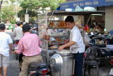 Street vendor w/ steamed buns, Saigon