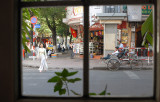 Street scene thru a window, Saigon