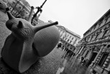 Giant Snail in front of Palazzo Marino