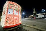 Milan Tram in Christmas time