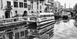 Touristic Boats on Naviglio Grande
