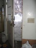 Back door of garage