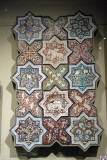 Panel with 15 tiles of stars and crosses, Persia 1267 (665A.H.)