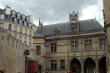 Courtyard of the Hôtel du Cluny (late 15th C) which houses the French National Museum of the Middle Ages
