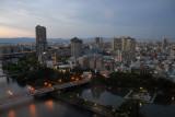 Night falls, Imperial Hotel, Osaka