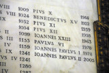 Popes listed with year of death